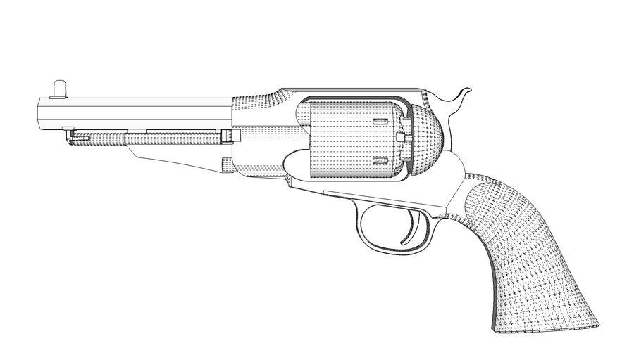 Gun Revolver Pistol royalty-free 3d model - Preview no. 9