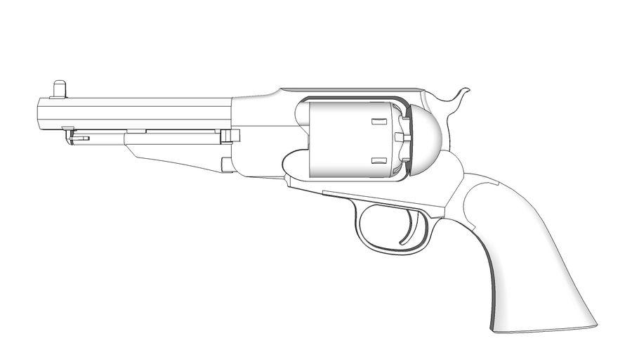 Gun Revolver Pistol royalty-free 3d model - Preview no. 8