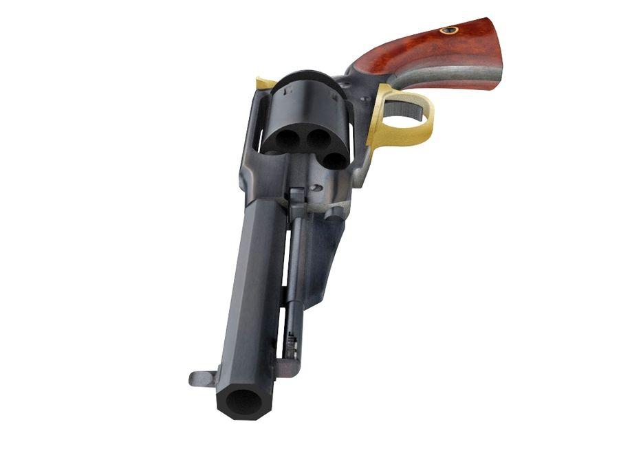 Gun Revolver Pistol royalty-free 3d model - Preview no. 3
