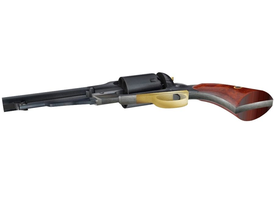 Gun Revolver Pistol royalty-free 3d model - Preview no. 7