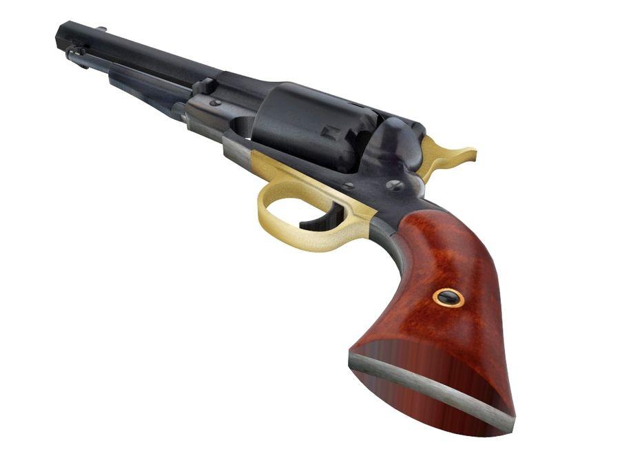 Gun Revolver Pistol royalty-free 3d model - Preview no. 6