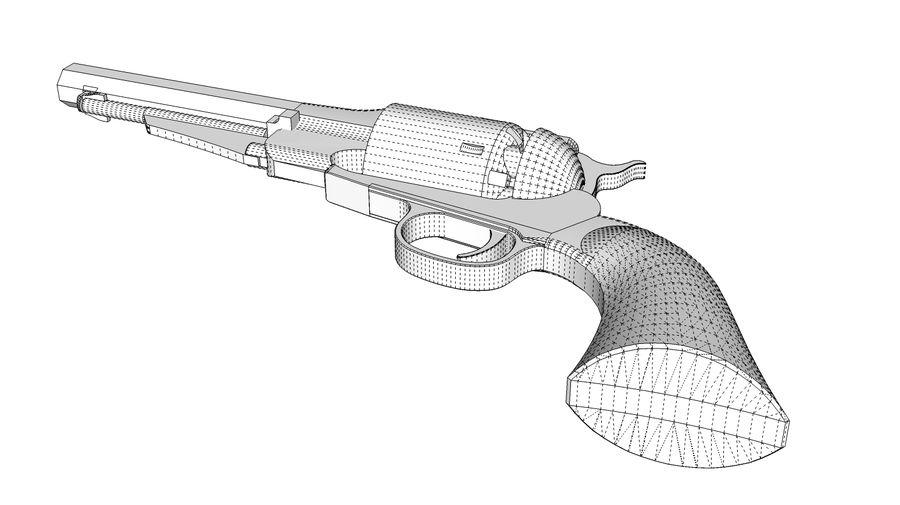 Gun Revolver Pistol royalty-free 3d model - Preview no. 10
