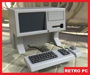 Retro PC Terminal (Apple Lisa style) 3d model