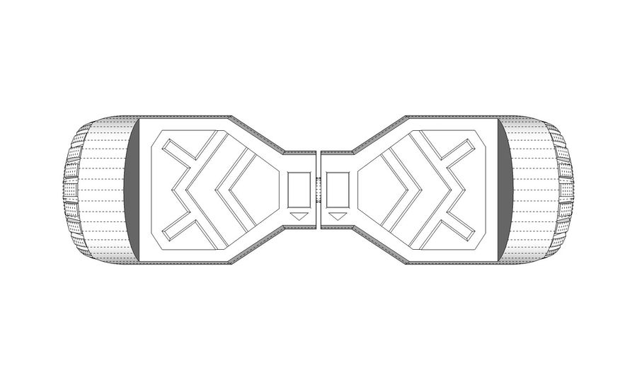Hoverboard royalty-free 3d model - Preview no. 16