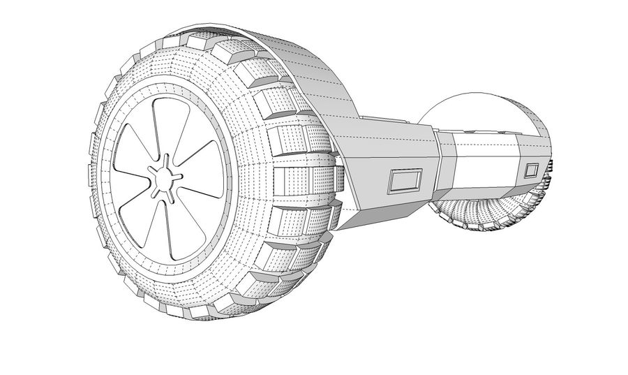 Hoverboard royalty-free 3d model - Preview no. 13