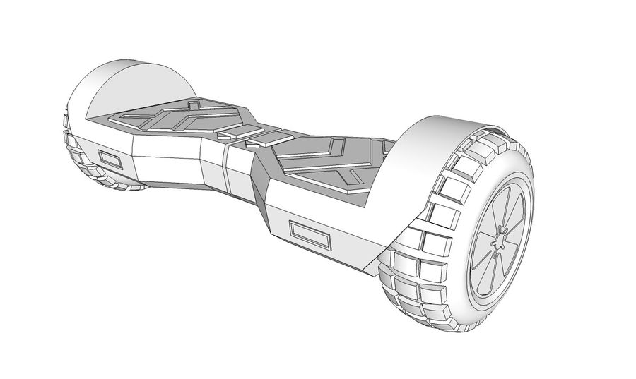 Hoverboard royalty-free 3d model - Preview no. 10