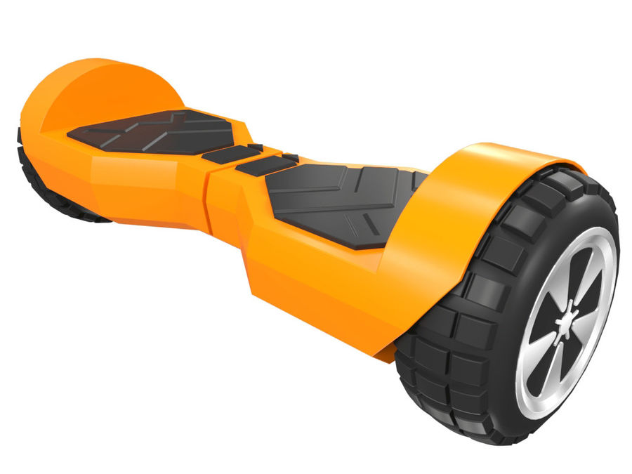 Hoverboard royalty-free 3d model - Preview no. 4