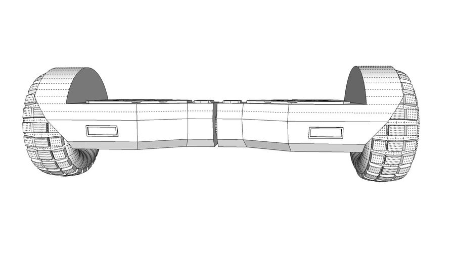 Hoverboard royalty-free 3d model - Preview no. 12