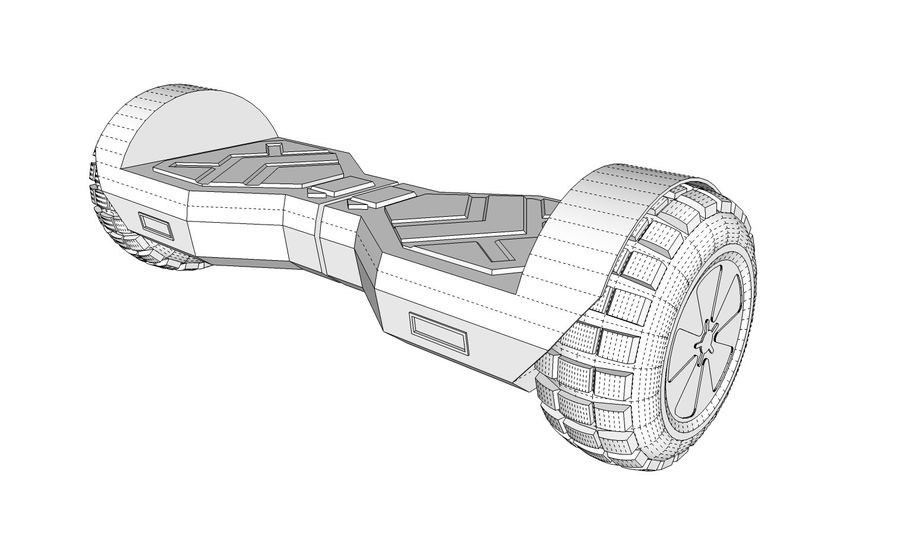 Hoverboard royalty-free 3d model - Preview no. 11