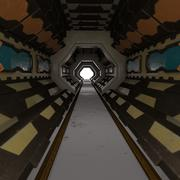 wnętrze scifi 3d model