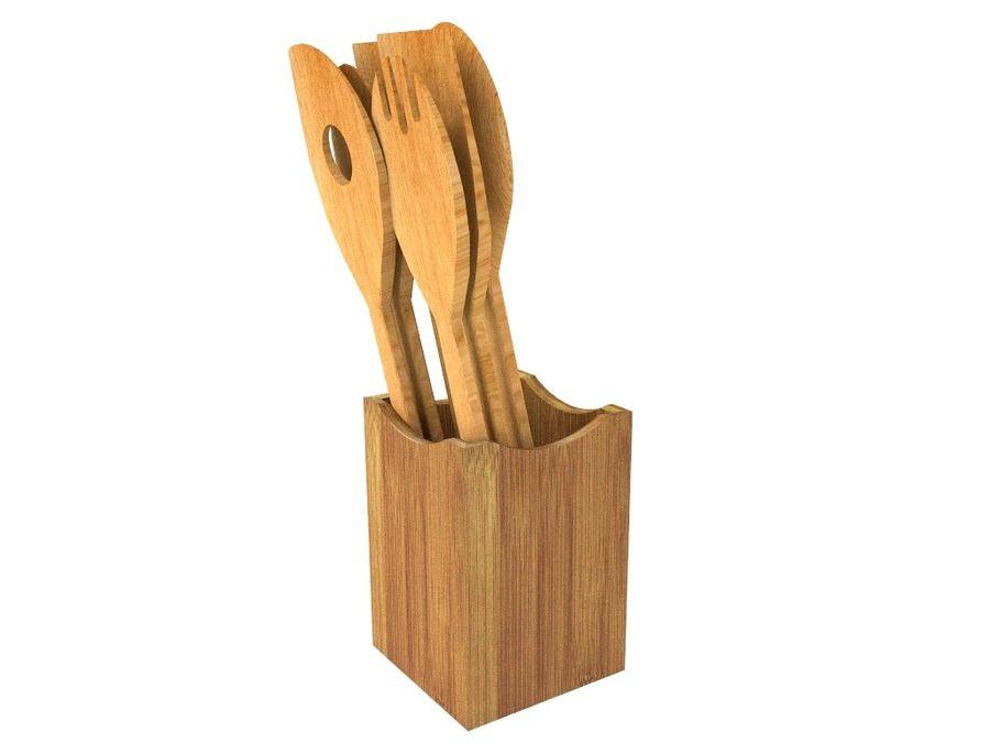 Colher de madeira royalty-free 3d model - Preview no. 5