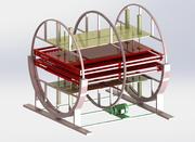 Dubbelstations roterande transportör 3d model