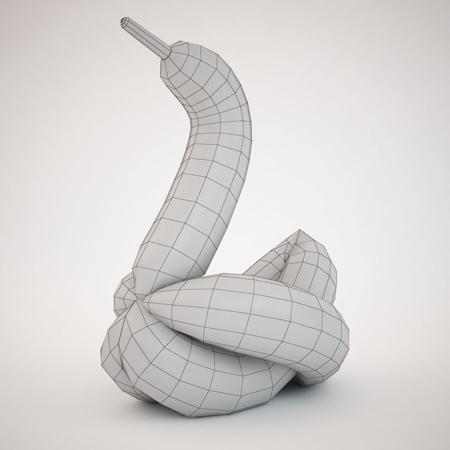Jeff Koons Balloon Swan royalty-free 3d model - Preview no. 5