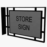 StoreFront Sign 3d model