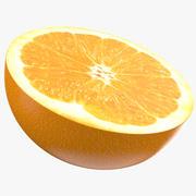 Half Orange Fruit 3d model