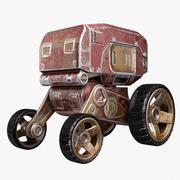 Autonomous wheeled robot 3d model