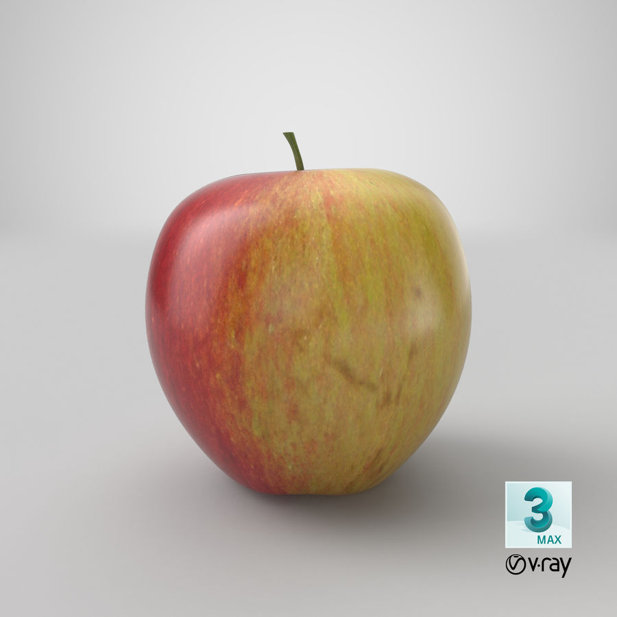 Apple Fruit royalty-free 3d model - Preview no. 17