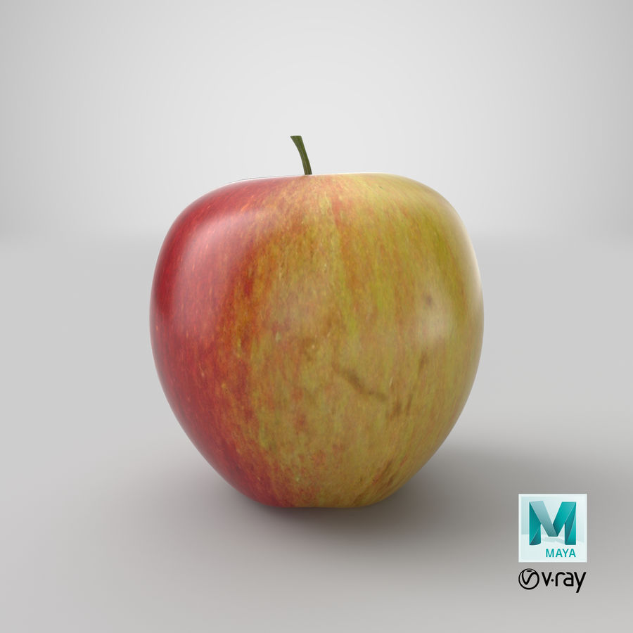 Apple Fruit royalty-free 3d model - Preview no. 15