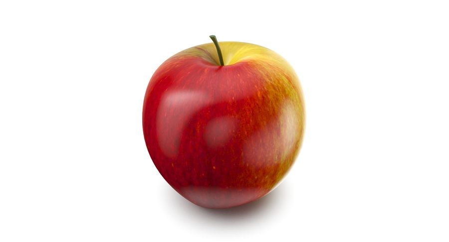 Apple Fruit royalty-free 3d model - Preview no. 2