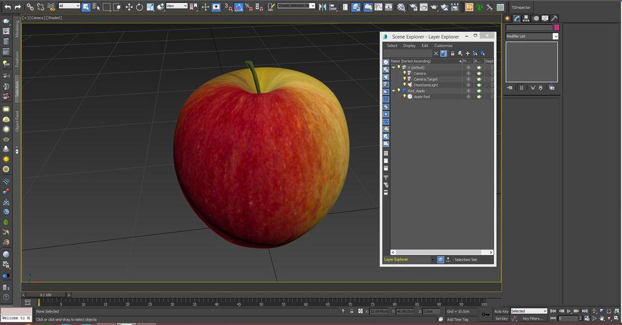 Fruta de manzana royalty-free modelo 3d - Preview no. 14