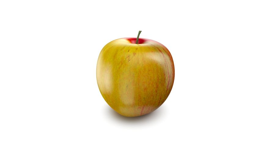 Apple Fruit royalty-free 3d model - Preview no. 5