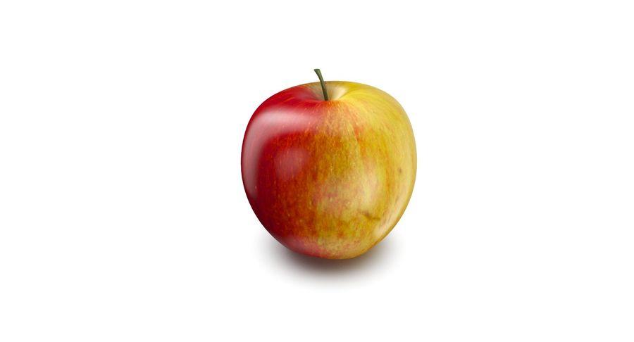 Fruta de manzana royalty-free modelo 3d - Preview no. 3