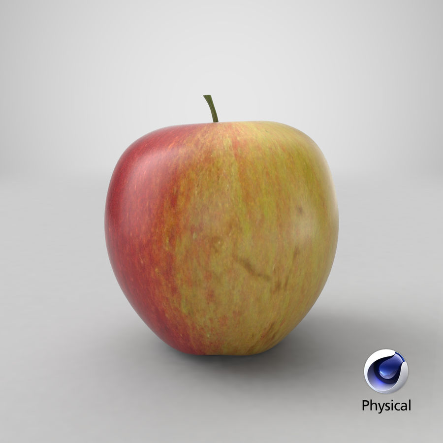 Apple Fruit royalty-free 3d model - Preview no. 19