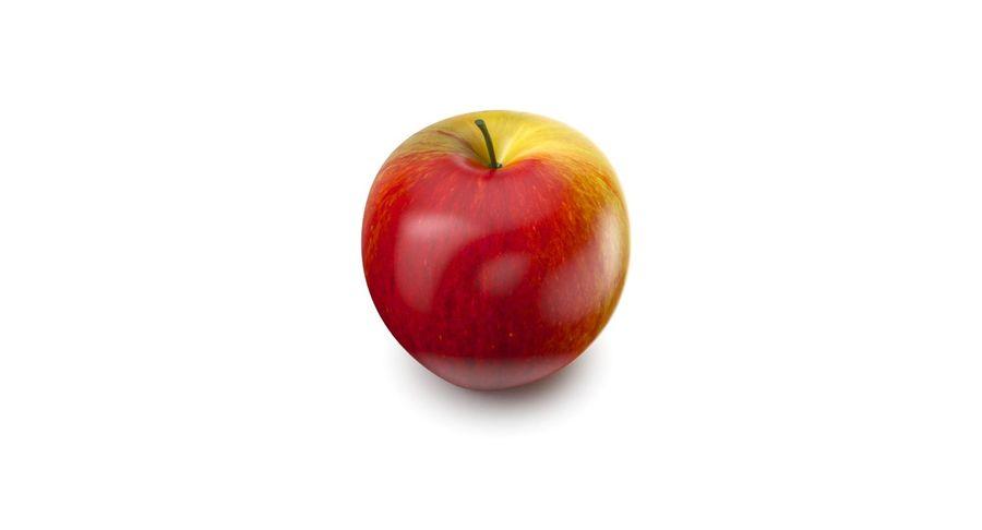 Fruta de manzana royalty-free modelo 3d - Preview no. 4