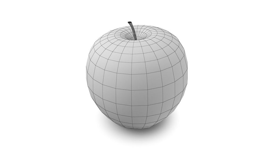 Green Apple Fruit royalty-free 3d model - Preview no. 9