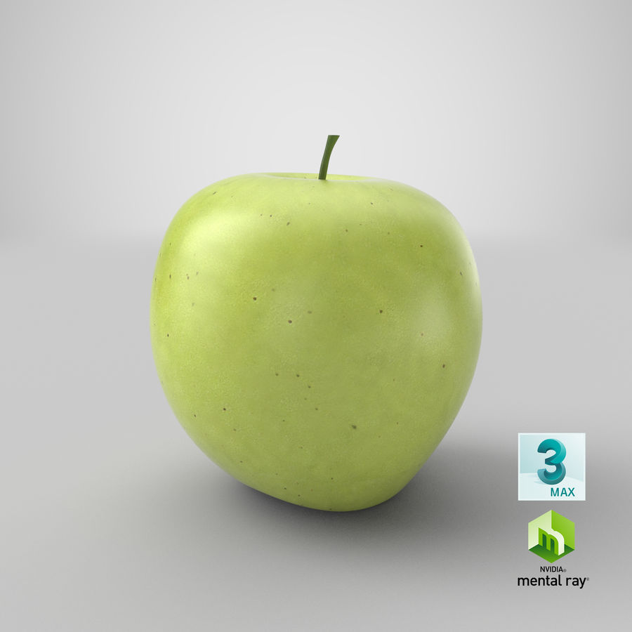 Green Apple Fruit royalty-free 3d model - Preview no. 17
