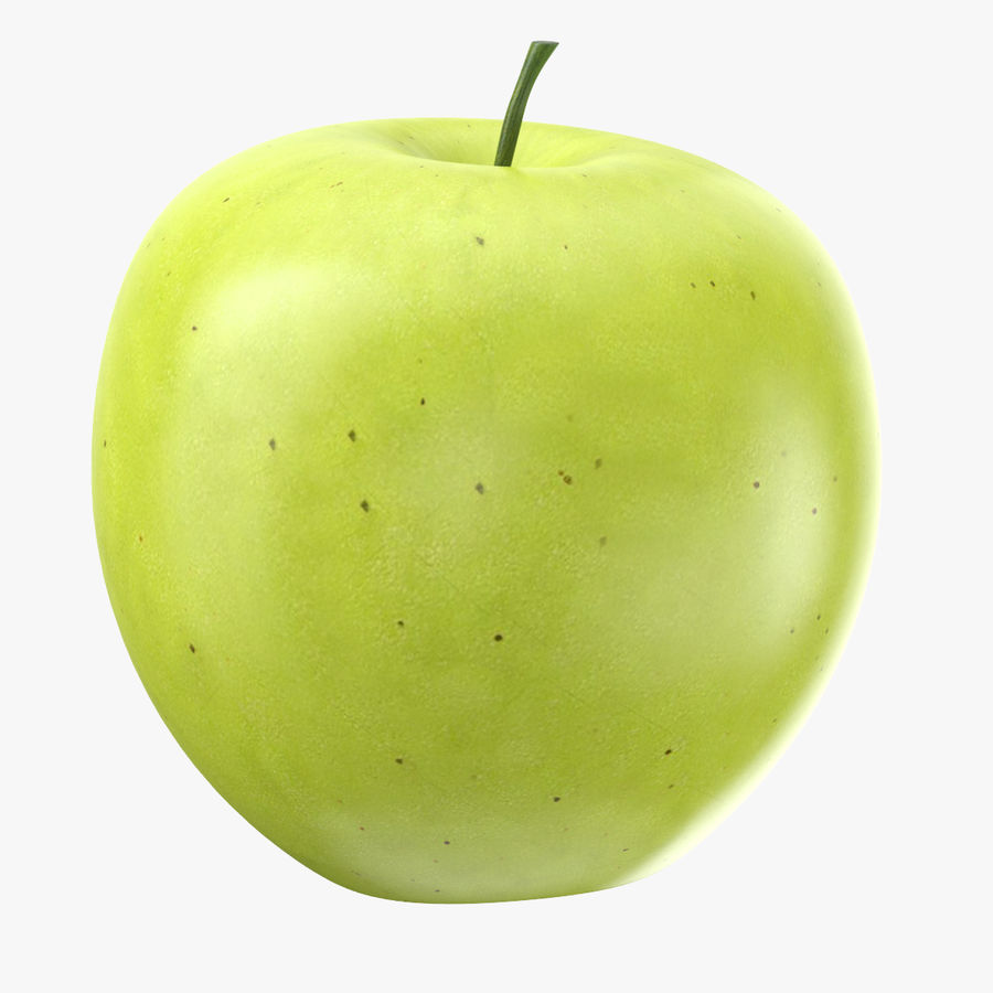 Green Apple Fruit royalty-free 3d model - Preview no. 1