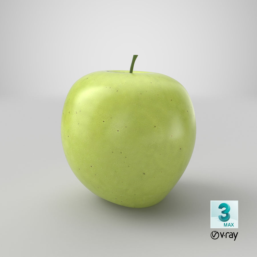 Green Apple Fruit royalty-free 3d model - Preview no. 16