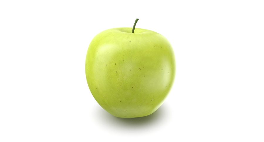 Green Apple Fruit royalty-free 3d model - Preview no. 2