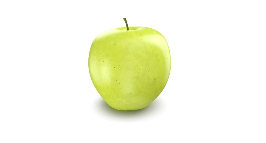 Green Apple Fruit royalty-free 3d model - Preview no. 3