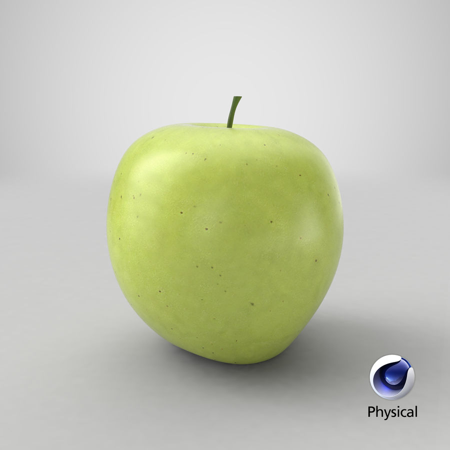 Green Apple Fruit royalty-free 3d model - Preview no. 18