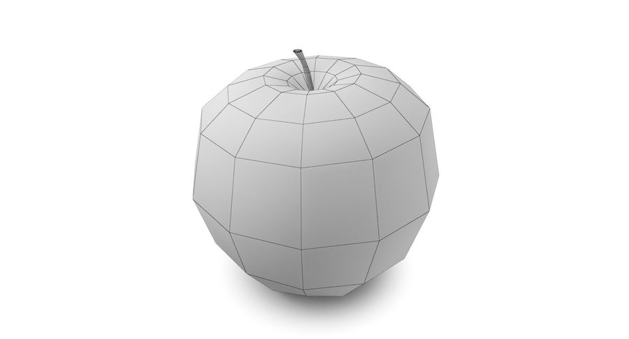 Green Apple Fruit royalty-free 3d model - Preview no. 8