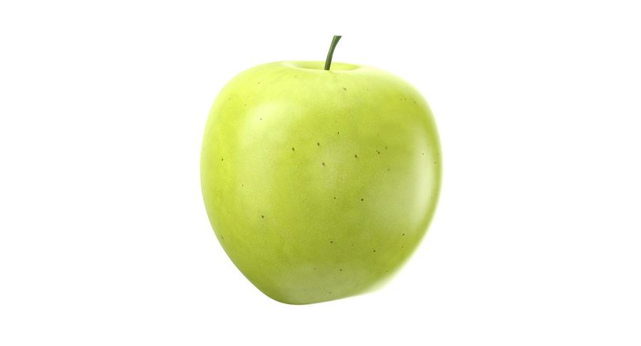 Green Apple Fruit royalty-free 3d model - Preview no. 7
