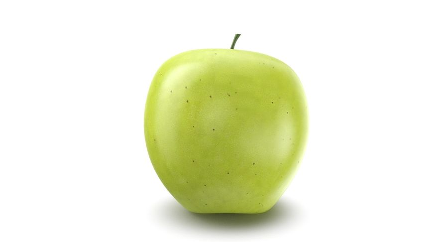 Green Apple Fruit royalty-free 3d model - Preview no. 4