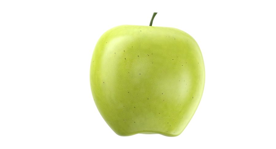 Green Apple Fruit royalty-free 3d model - Preview no. 6