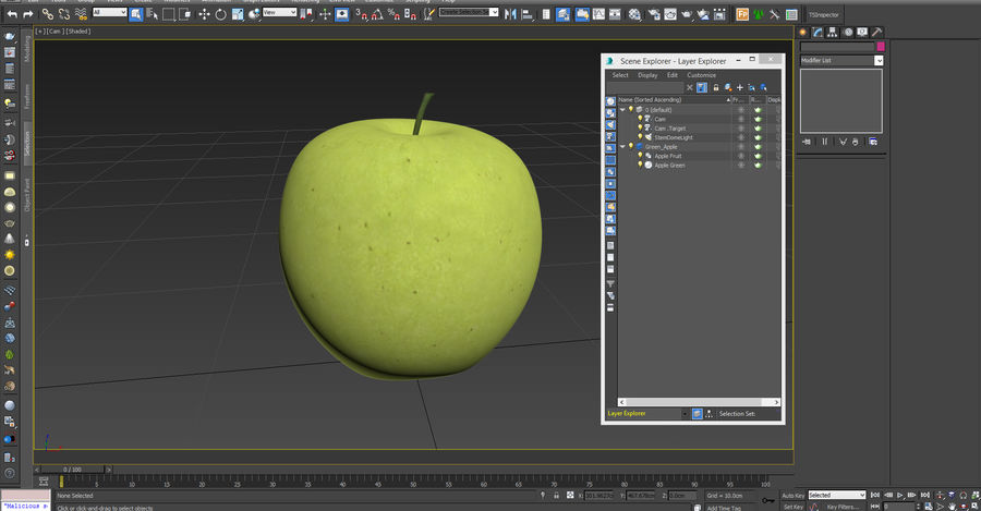 Green Apple Fruit royalty-free 3d model - Preview no. 13