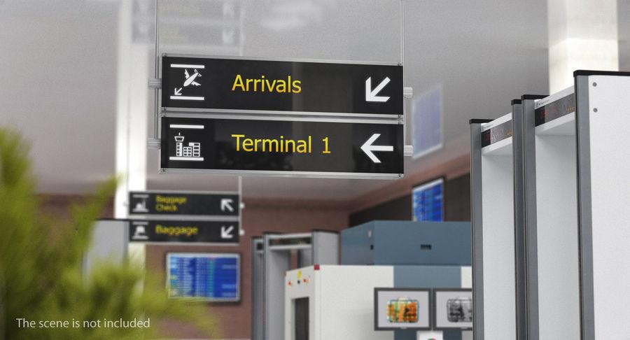 Luchthaven tekent aankomst Terminal 3D-model royalty-free 3d model - Preview no. 3