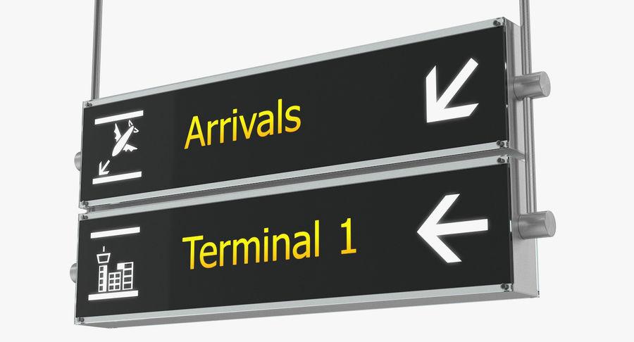 Luchthaven tekent aankomst Terminal 3D-model royalty-free 3d model - Preview no. 4