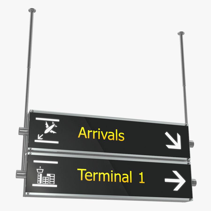 Luchthaven tekent aankomst Terminal 3D-model royalty-free 3d model - Preview no. 1