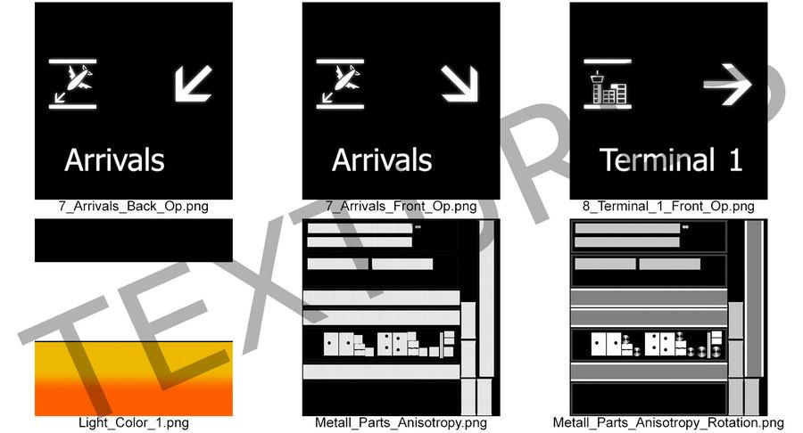 Luchthaven tekent aankomst Terminal 3D-model royalty-free 3d model - Preview no. 11