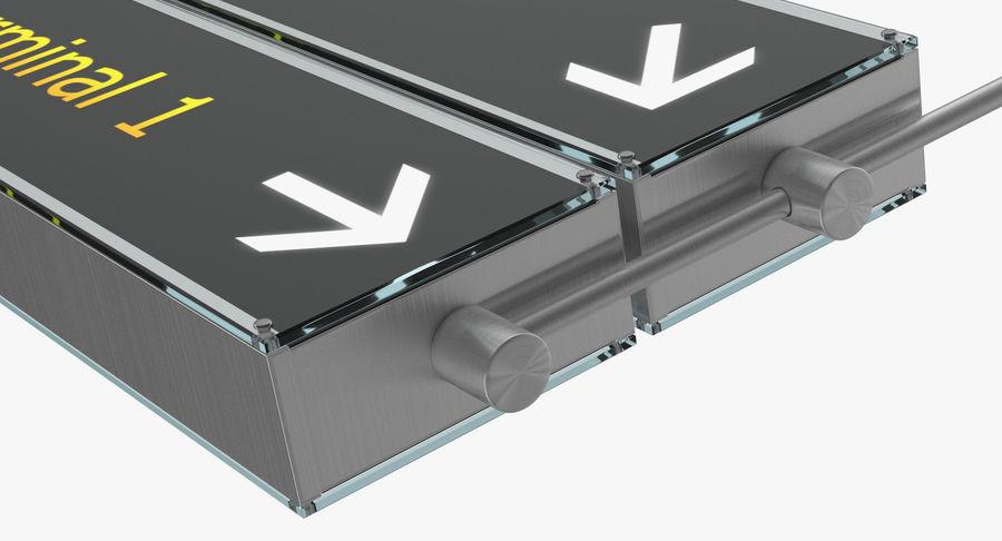 Luchthaven tekent aankomst Terminal 3D-model royalty-free 3d model - Preview no. 5