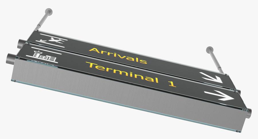 Luchthaven tekent aankomst Terminal 3D-model royalty-free 3d model - Preview no. 6