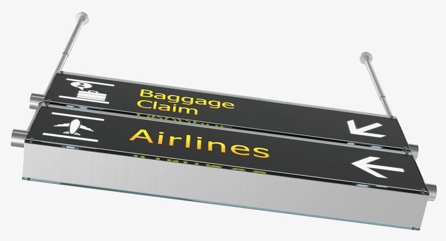 Airport tekenen bagage claim luchtvaartmaatschappijen 3D-model royalty-free 3d model - Preview no. 6