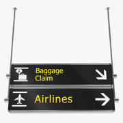 Airport tekenen bagage claim luchtvaartmaatschappijen 3D-model 3d model