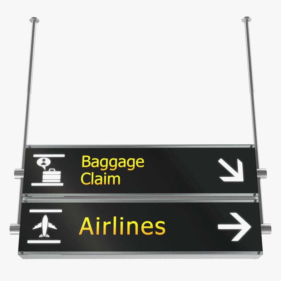 Airport tekenen bagage claim luchtvaartmaatschappijen 3D-model royalty-free 3d model - Preview no. 1