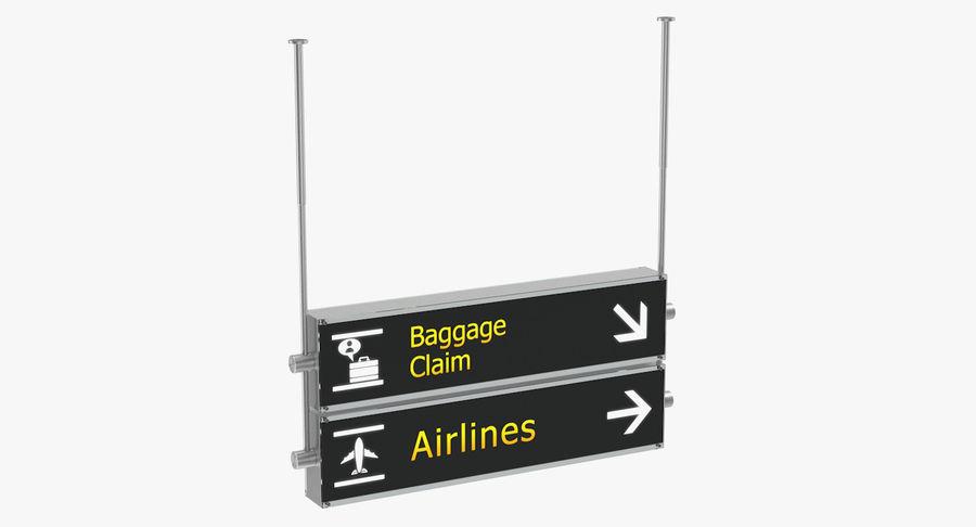 Airport tekenen bagage claim luchtvaartmaatschappijen 3D-model royalty-free 3d model - Preview no. 5